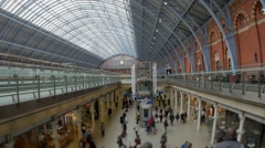St Pancras station in London Stock Footage