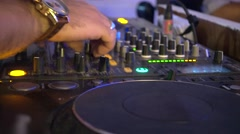 Party DJ console - stock footage