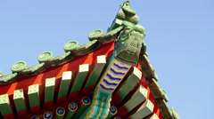 Chinese pagoda in Beijing in 4k Stock Footage