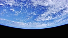 Shot from space to the earth sea Stock Footage
