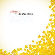 Abstract yellow star background. Vector illustration - stock illustration