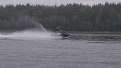 Man enjoying his jetski - stock footage