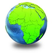 Africa on green Earth - stock illustration