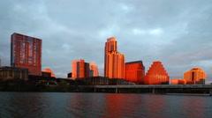 4K UltraHD A Timelapse sunrise of the Austin skyline Stock Footage