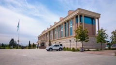 The hyperlapse of Tajikistan National Museum in Dushanbe Stock Footage
