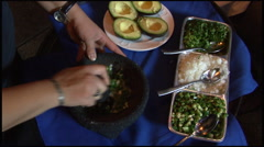 Waiter Perparing Guacamole  Stock Footage