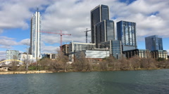 4K UltraHD A View of the Austin skyline on a sunny day Stock Footage
