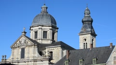 Saint-Peters' church and abbey in Ghent, Flanders, Belgium - stock footage
