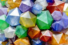 Colorful Triangular  background texture. Photo of a colorful decorations. - stock photo