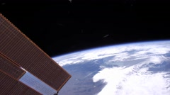 Shot from space to the earth with the iss - stock footage