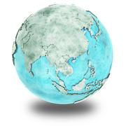 Southeast Asia on marble planet Earth - stock illustration