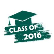 class of 2016 with graduate cap with tassel - stock illustration