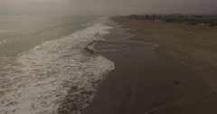 South Pacific Ocean in Lima Peru with Isla san Lorenzo Stock Footage