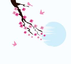 Cherry Blossom Stock Illustration