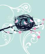 Bird Nest Stock Illustration