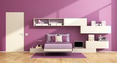 Teenage girl room Stock Illustration