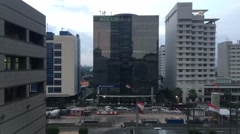 ACE Life Building Central Jakarta Stock Footage