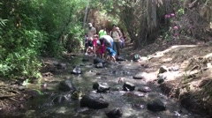 People travel on a lake in Northen Israel Stock Footage