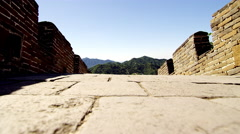 Great wall of china in 4k Stock Footage