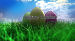 Easter Eggs Happy Easter Stock Footage