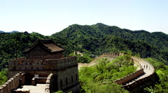 great wall of china in 4k - stock footage