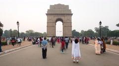 India Gate, Delhi, New Delhi, Uttar Pradesh, India - 4K timelapse Stock Footage