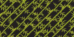 Bamboo seamless diagonal pattern - stock illustration