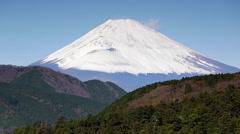 Mount Fuji,  Fuji-Hakone-Izu National Park, Hakone, Shizuoka, Honshu, Japan Stock Footage