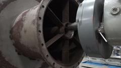 Industrial Machine cutting Lathe Stock Footage
