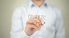 Traffic Analysis , man writing on transparent screen Stock Footage