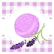 Bath bubble bomb. Aromatherapy bomb badge - stock illustration