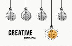 Creative thinking concept design with human brains Stock Illustration