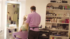 Hairdresser Dye the Hair - stock footage