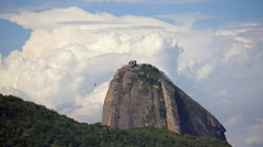 Sugarloaf mountain and cable cars, Rio de Janeiro, Brazil, South America - stock footage