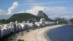 Copacabana beach and Sugarloaf, Rio de Janeiro, Brazil, South America - stock footage