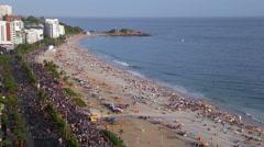 Ipanema Beach, Street carnival, Rio de Janeiro, Brazil, South America Stock Footage
