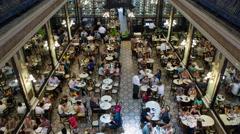 Confeitaria Colombo, Art Nouveau restaurant interior, Rio de Janiero Stock Footage