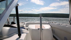 Boat Interior Dolly Stock Footage