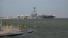 Texas Corpus Christi Aircraft Carrier Lexington Stock Footage