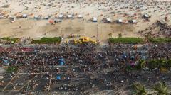 Ipanema Beach, Street carnival, Rio de Janeiro, Brazil - 4K timelapse - stock footage