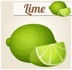 Lime. Detailed vector icon Stock Illustration