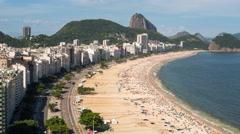 Copacabana beach and Sugarloaf, Rio de Janeiro, Brazil - 4K timelapse - stock footage