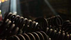 steel springs focus moving - stock footage