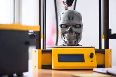 Close up of model printed on the  3d printer Stock Photos