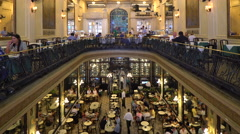 Confeitaria Colombo, Art Nouveau restaurant, Rio de Janiero Stock Footage