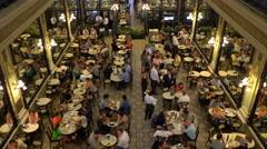 Confeitaria Colombo, Art Nouveau styled restaurant, Rio de Janiero Stock Footage
