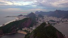Cable car at Sugar Loaf Mountain (Pao de Acucar), Rio de Janeiro, Brazil - stock footage