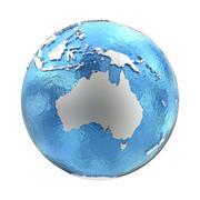 Australia on silver Earth Stock Illustration