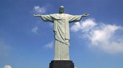 Christ Redeemer statue on Corcovado mountain in Rio de Janeiro Stock Footage