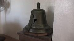 Texas Goliad Presidio La Bahia broken bell Stock Footage